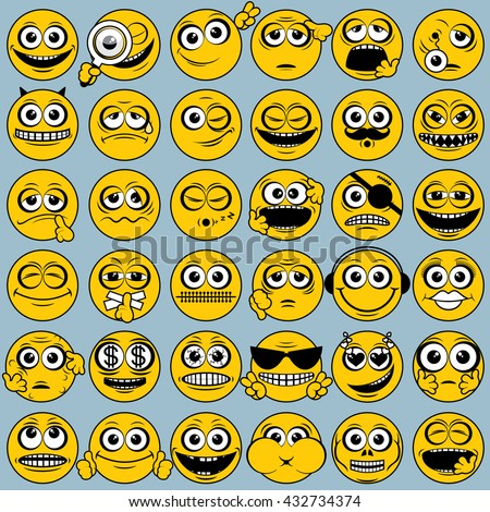 funny yellow smileys collection