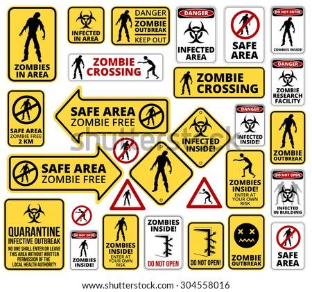 funny zombie apocalypse signs