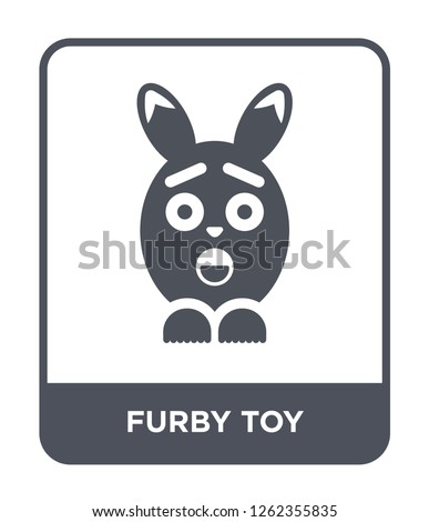 furby toy icon vector on white background, furby toy trendy filled icons from Toys collection, furby toy simple element illustration