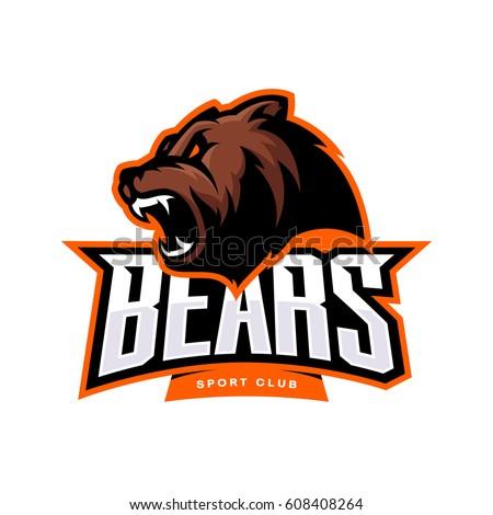 furious bear sport vector logo