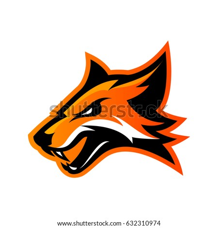 Shutterstock Furious fox sport club vector logo concept isolated on white background. Modern professional team badge mascot design. Premium quality wild animal athletic division t-shirt tee print illustration.