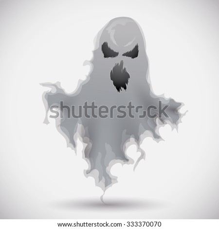 furious ghost frightening the