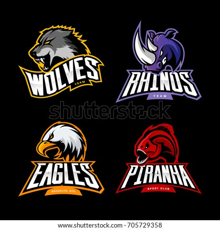 furious wolf  rhino  eagle and