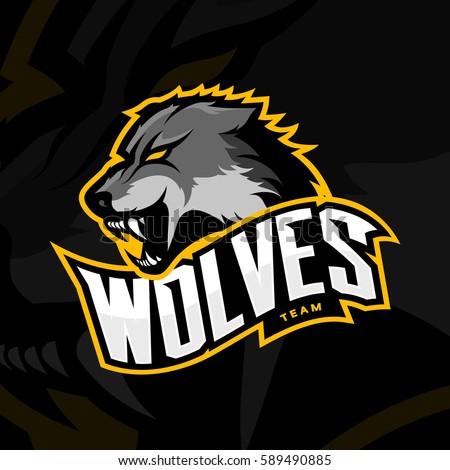 furious wolf sport vector logo