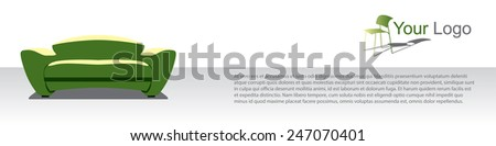 furniture advertisement vector