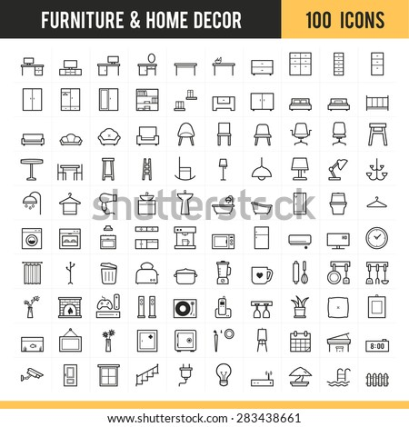 furniture and home decor icon