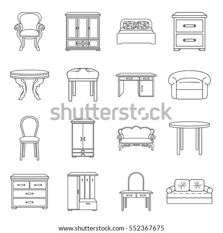 furniture and home interior set