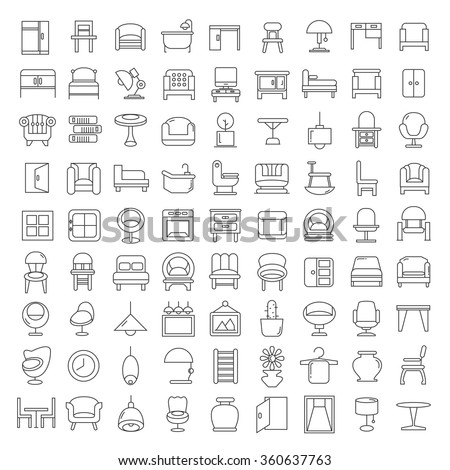 furniture icons  furniture