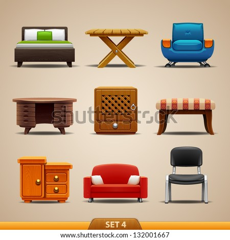 Furniture icons-set 4