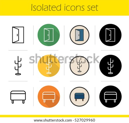Long Shadow Furniture Vector Icons Download Free Vector Art Stock