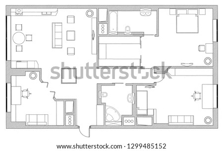 furniture is on architect plan
