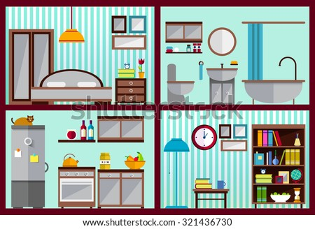 living room bedroom bathroom kitchen furniture set for rooms of house kitchen living room 18975