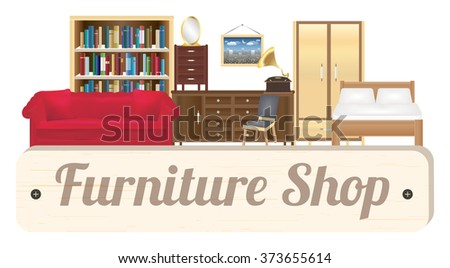 furniture shop wood board with