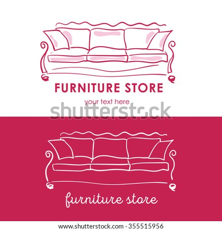 furniture store logotype  logo