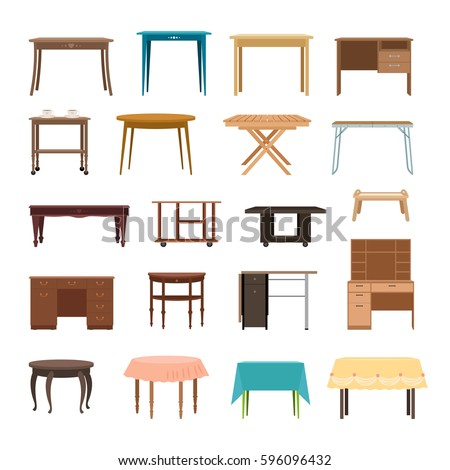 furniture table isolated on