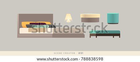 Furniture vector objects set