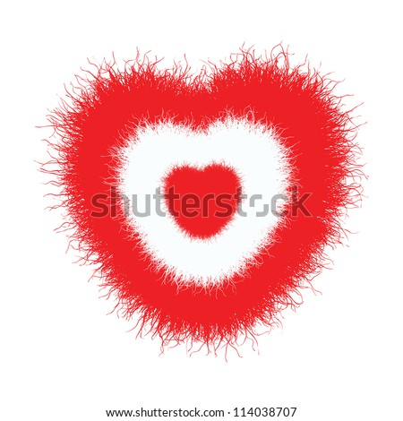 furry red hearts