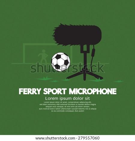 Furry Sport Microphone Vector Illustration
