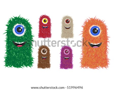 stock vector furry vector monster family in different colors 51996496 Dubious Dubai. POSTED BY Gay