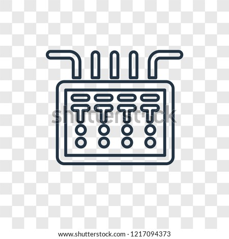 Fuse box concept vector linear icon isolated on transparent background, Fuse box concept transparency concept in outline style