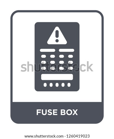 fuse box icon vector on white background, fuse box trendy filled icons from Electrian connections collection, fuse box simple element illustration