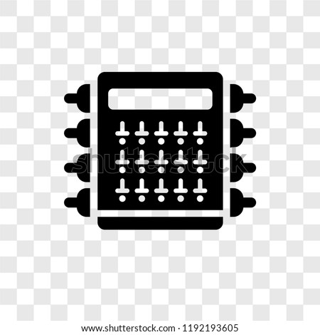 Fuse box vector icon isolated on transparent background, Fuse box transparency logo concept