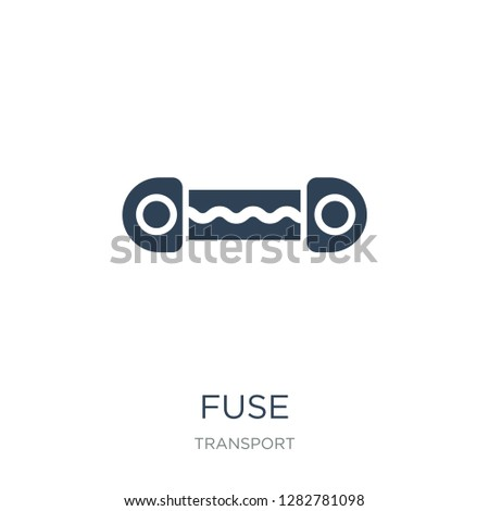 fuse icon vector on white background, fuse trendy filled icons from Transport collection, fuse vector illustration