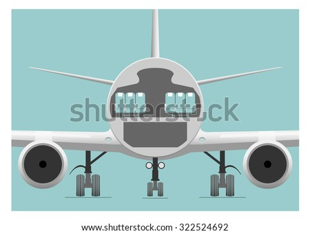 fuselage cross section  vector