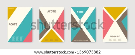 Future geometric template. Green, pink, gold, white, bright colorful set graphic design covers. Cool geometric shape compositions.  Future geometric template. Trendy backgrounds. Futuristic pattern.