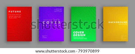 Future minimal covers design. Colorful halftone gradients. Background geometric patterns. Vector template brochures, flyers, presentations, leaflet, magazine a4 size #793970899