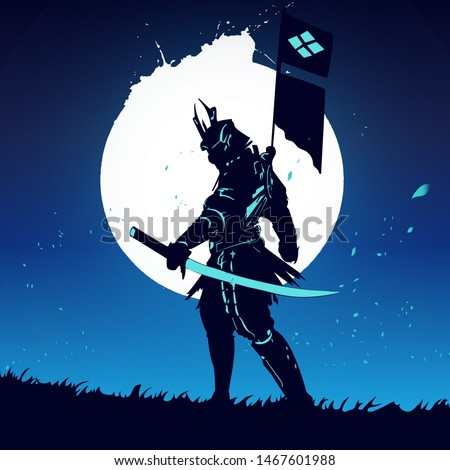 future samurai with light sword