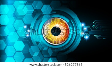 future technology  blue eye