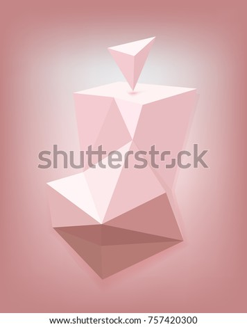 Futurist triangle pattern in pink, Vector illustration