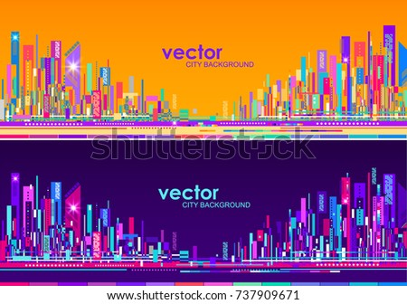 futuristic abstract city