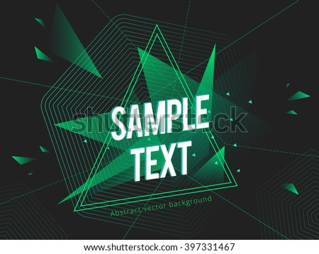 Futuristic abstract colorful vector background with triangle and lines. Geometric shapes, Abstract Modern layout.