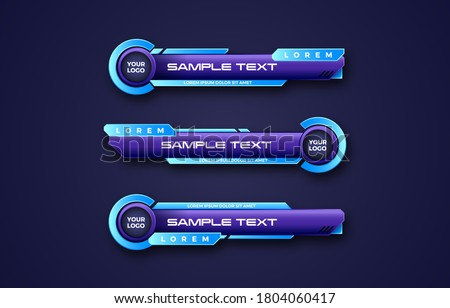 Futuristic abstract lower third banner bar screen broadcast design template Сток-фото ©