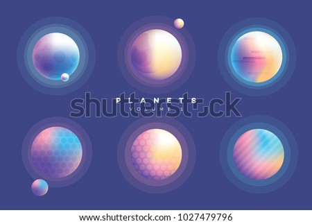 futuristic abstract planets