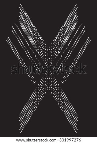 futuristic abstract print in