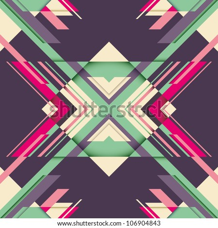 Futuristic abstraction with geometric shapes. Vector illustration.