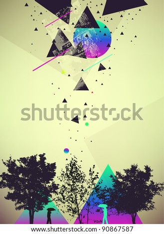 futuristic art abstract vector background - stock vector