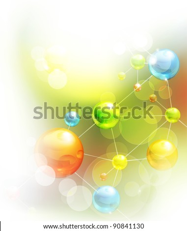 Futuristic background, vector