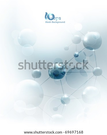 Futuristic background with molecules blue, eps10