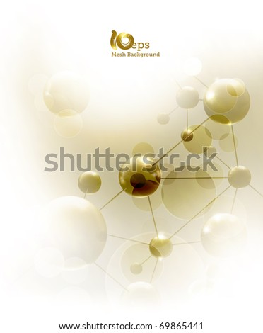 Futuristic background with molecules, eps10