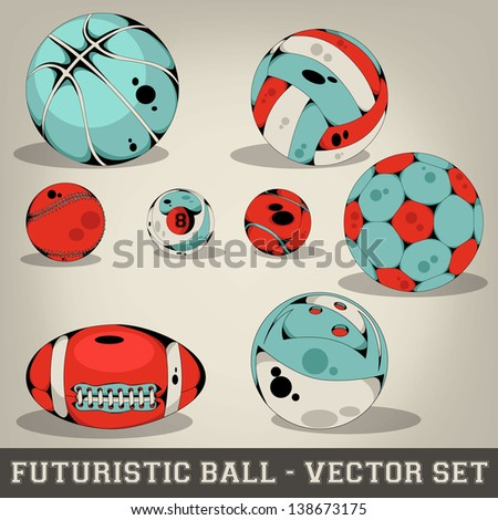 Futuristic Ball Vector Set