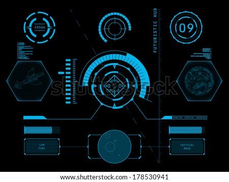 futuristic blue virtual graphic