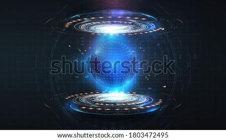 futuristic circles forming a