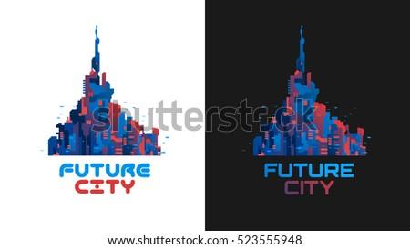 futuristic city banner