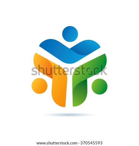 Futuristic Community Logo Icon Elements Template
