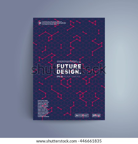 futuristic cover design