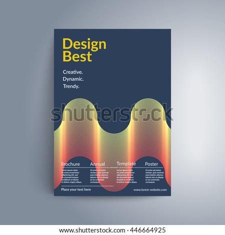 futuristic cover design wavy